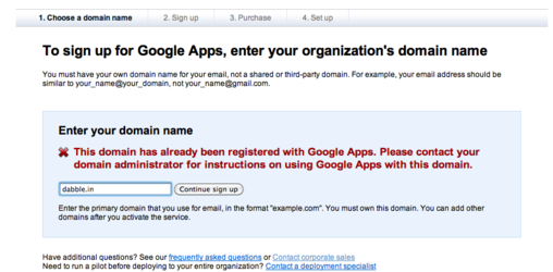Security Warning Google Apps